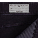 Brunello Cucinelli // Denim Cotton Five Pocket Jeans // Purple (50)