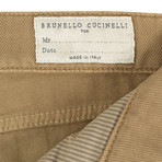 Brunello Cucinelli // Cotton Denim Jeans // Tan (50)
