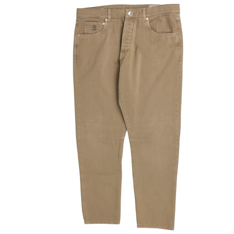 Brunello Cucinelli // Cotton Denim Jeans // Camel (50)