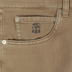 Brunello Cucinelli // Cotton Denim Jeans // Camel (44)
