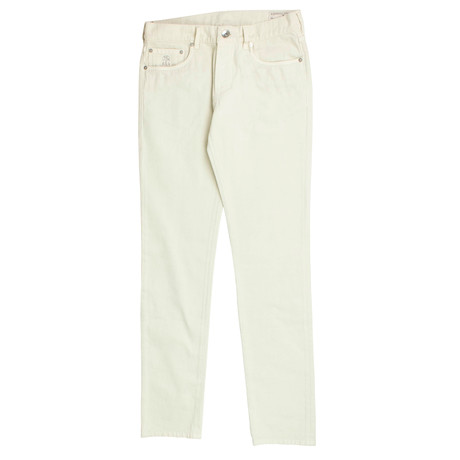 Brunello Cucinelli // Cotton Denim Jeans // Ivory (44)