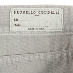 Brunello Cucinelli // Cotton Denim Jeans // Gray (54)