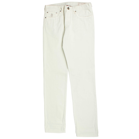 Brunello Cucinelli // Cotton Denim Jeans // Off-White (44)