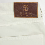 Brunello Cucinelli // Cotton Denim Jeans // Off-White (56)