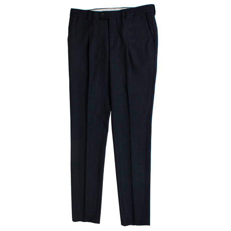 Wool Leisure Fit Dress Pants // Marine Blue (44)