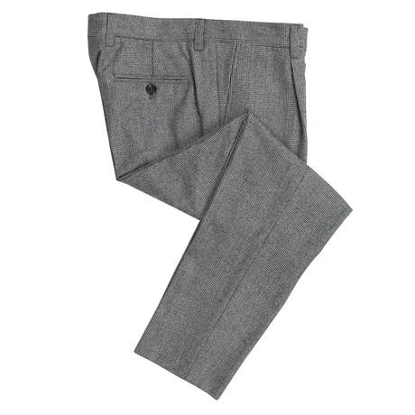 Brunello Cucinelli // Check Wool Dress Pants // Black + White (44)