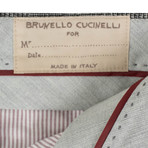 Brunello Cucinelli // Check Wool Dress Pants // Black + White (44)