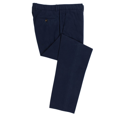 Brunello Cucinelli // Cotton Dress Pants // Blue (54)
