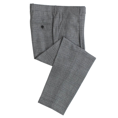 Houndstooth Wool Dress Pants V1 // Gray (44)