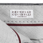 Brunello Cucinelli // Houndstooth Wool Dress Pants V // Gray (50)
