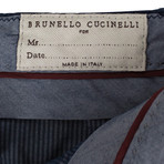 Brunello Cucinelli // Cotton Dress Pants // Blue (44)