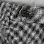 Houndstooth Wool Dress Pants // Black + White (44)
