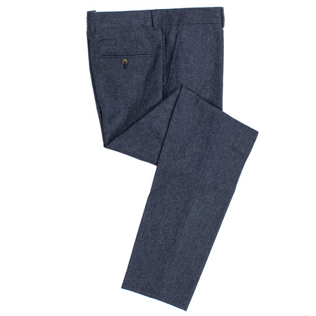Wool Blend Dress Pants // Blue (44)