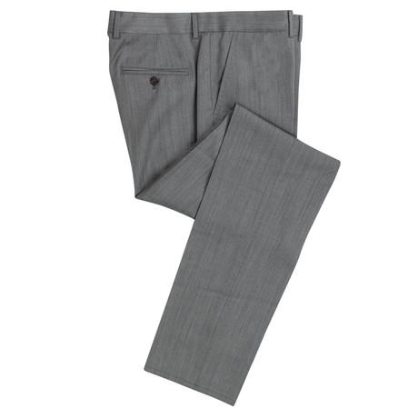 Herringbone Wool Dress Pants // Gray (Euro: 44)
