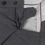 Brunello Cucinelli // Check Cropped Wool Dress Pants // Gray (50)