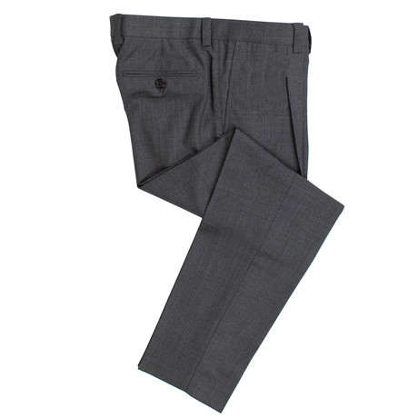 Wool Pleated Dress Pants // Gray (44)