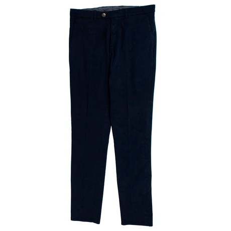 Cotton Blend Dress Pants // Navy Blue (44)