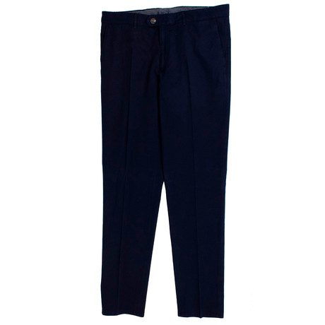 Cotton Dress Pants // Navy Blue (44)