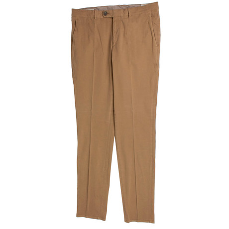 Brunello Cucinelli // Cotton Dress Pants // Tan (50)
