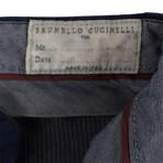 Brunello Cucinelli // Cotton Dress Pants // Navy (54)