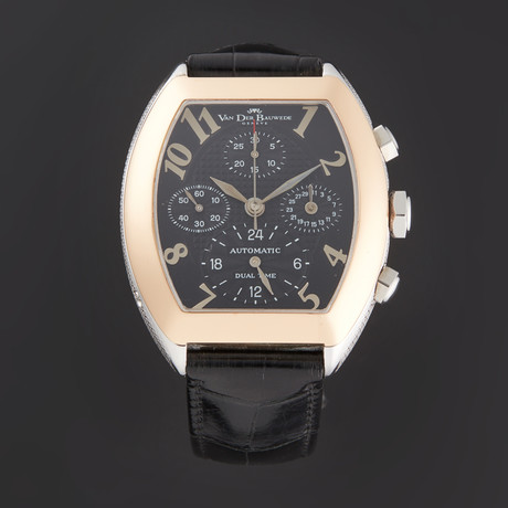 Van Der Bauwede Magnum Dual Time Chronograph Automatic // 2402210403100 // Store Display
