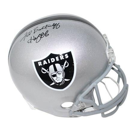Fred Biletnikoff // Signed Oakland Raiders Full Size Replica Helmet
