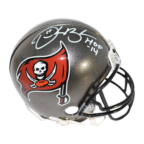 Derrick Brooks // Signed Tampa Bay Buccaneers Mini Helmet