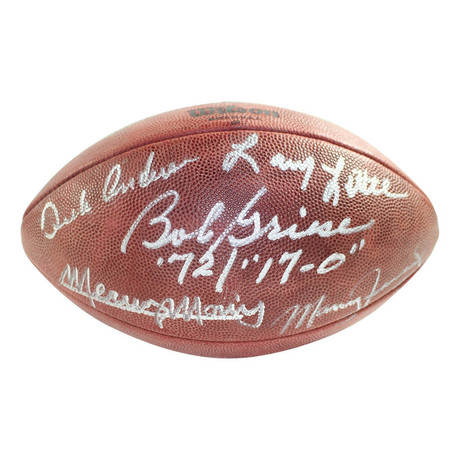 1972 Dolphins Multi-Signed NFL Duke Football