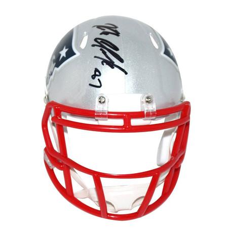 Signed New England Patriots Mini Helmet // Rob Gronkowski