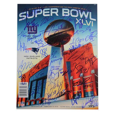 NY Giants Team Signed Super Bowl XLVI Program
