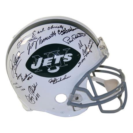 1969 NY Jets Team // Signed Throwback Helmet