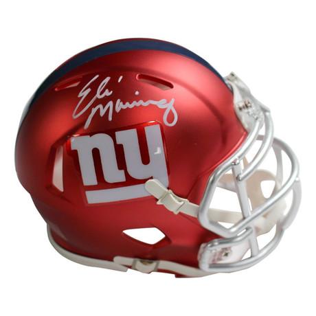 Eli Manning // Signed New York Giants Blaze Speed Mini Helmet