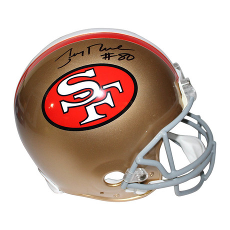 Signed SF 49ers Helmet // Jerry Rice