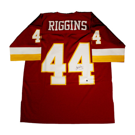 John Riggins // Signed Washington Redskins Replica Mitchell + Ness Jersey