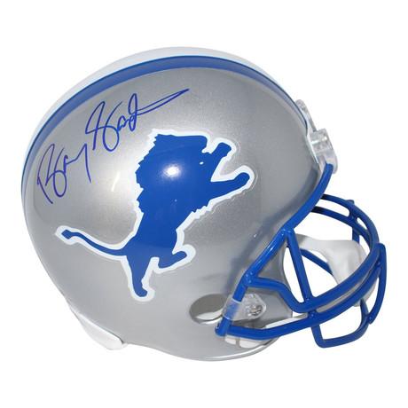 Barry Sanders // Signed Detroit Lions Replica Throwback Helmet