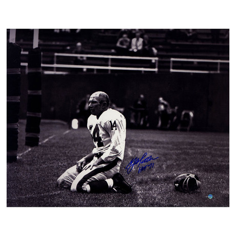 Y.A. Tittle // Signed Metallic Photo
