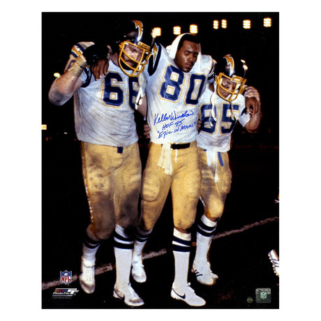 Signed San Diego Chargers Vs. Miami Photo // Kellen Winslow