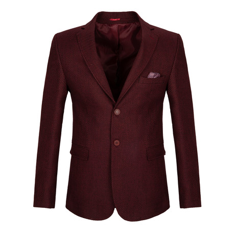 Robinson Blazer Jacket // Bordeaux (3XL)