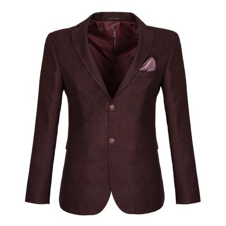 Clinton Blazer Jacket // Dark Bordeaux (S)