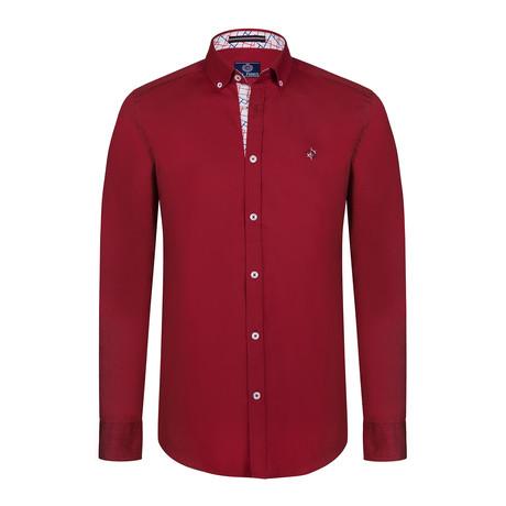 Holden Button Down Shirt // Bordeaux (S)
