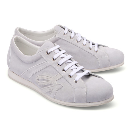 Brioni // Suede Sneaker // Smoke (Euro: 43)