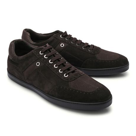 Brioni // Suede Fashion Sneaker // Brown (Euro: 43)