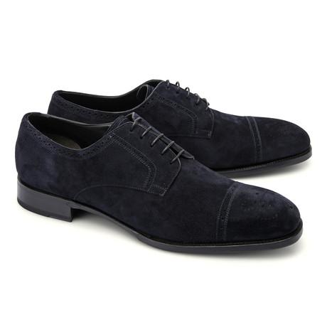 Brioni // Suede Cap Toe Shoe // Navy (Euro: 43)