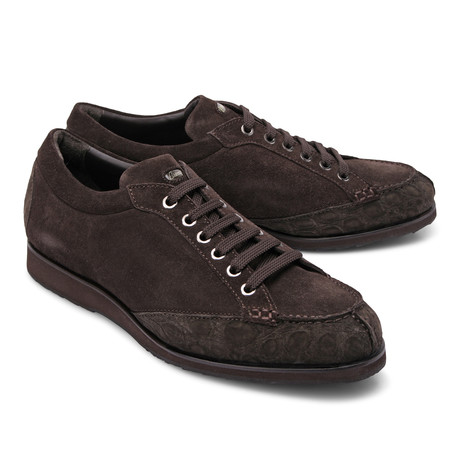 Brioni // Suede Fashion Sneaker // Brown I (Euro: 43)