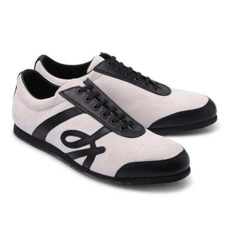 Brioni // Suede Fashion Sneaker // Gray + Black (Euro: 43)