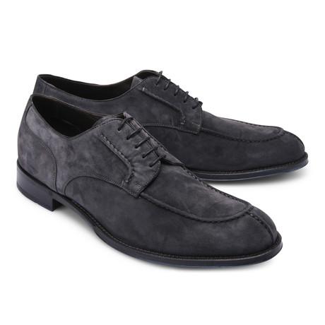 Brioni // Suede Lace Up Shoe // Blue (Euro: 43)
