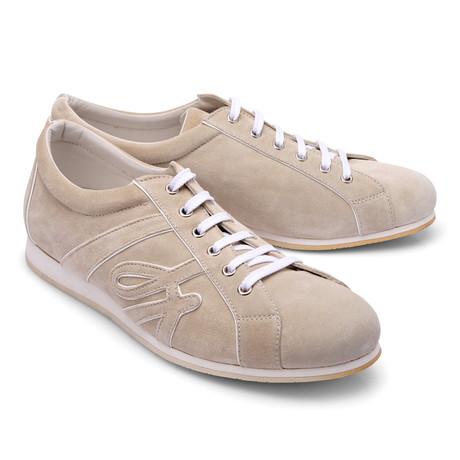 Brioni // Suede Fashion Sneaker // Beige (Euro: 43)