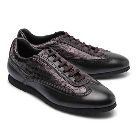 Brioni // Two Tone Leather Fashion Sneaker // Brown (Euro: 43)