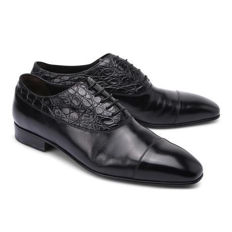 Brioni // Leather Cap Toe Shoe // Black (Euro: 43)
