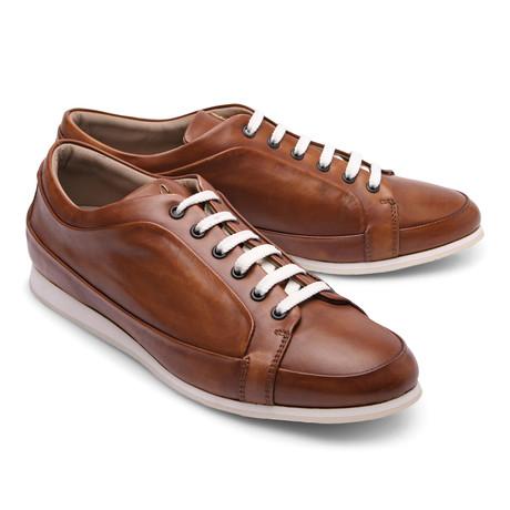 Brioni // Leather Fashion Sneaker // Brown II (Euro: 43)